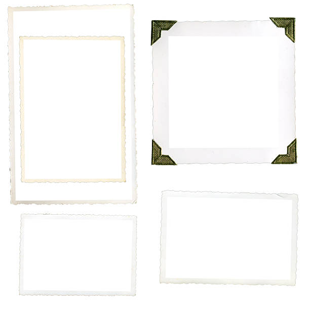 old photo corners and edges - photo corner stock photos and pictures