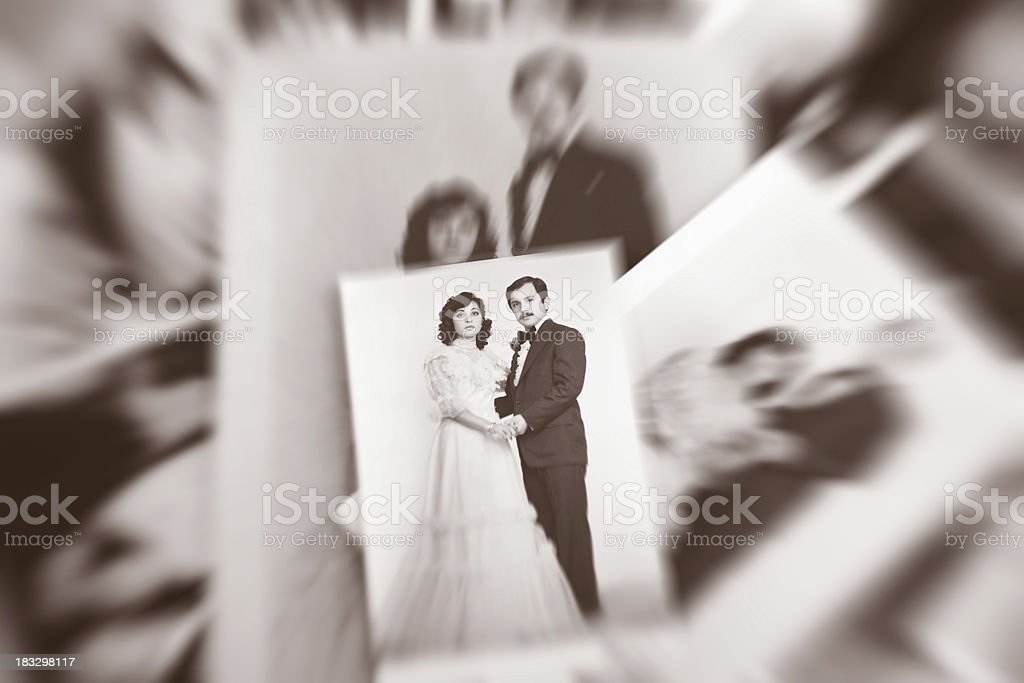 Old Photo Couples royalty-free stock photo