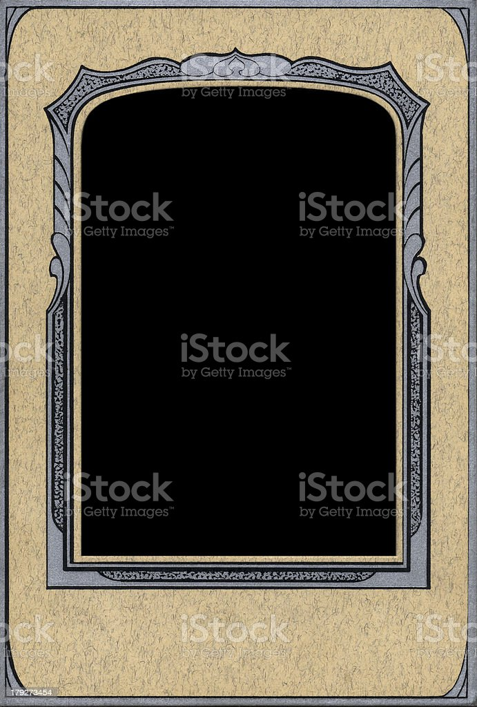Old Photo Frame From 30s royalty-free stock photo