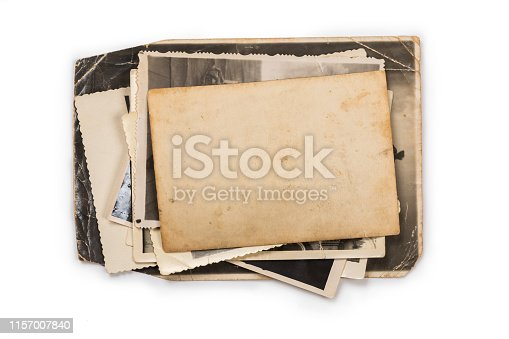 istock Old photo frame. Vintage paper. Retro card 1157007840