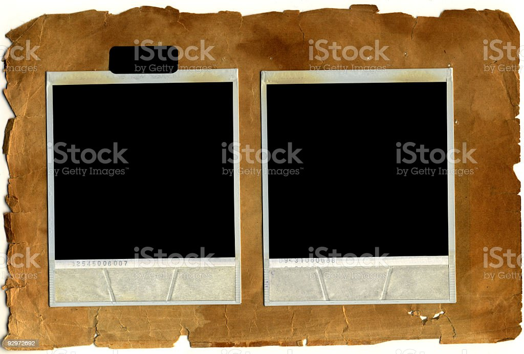 Old Photo Frames isolated vintage paper royalty-free stock photo