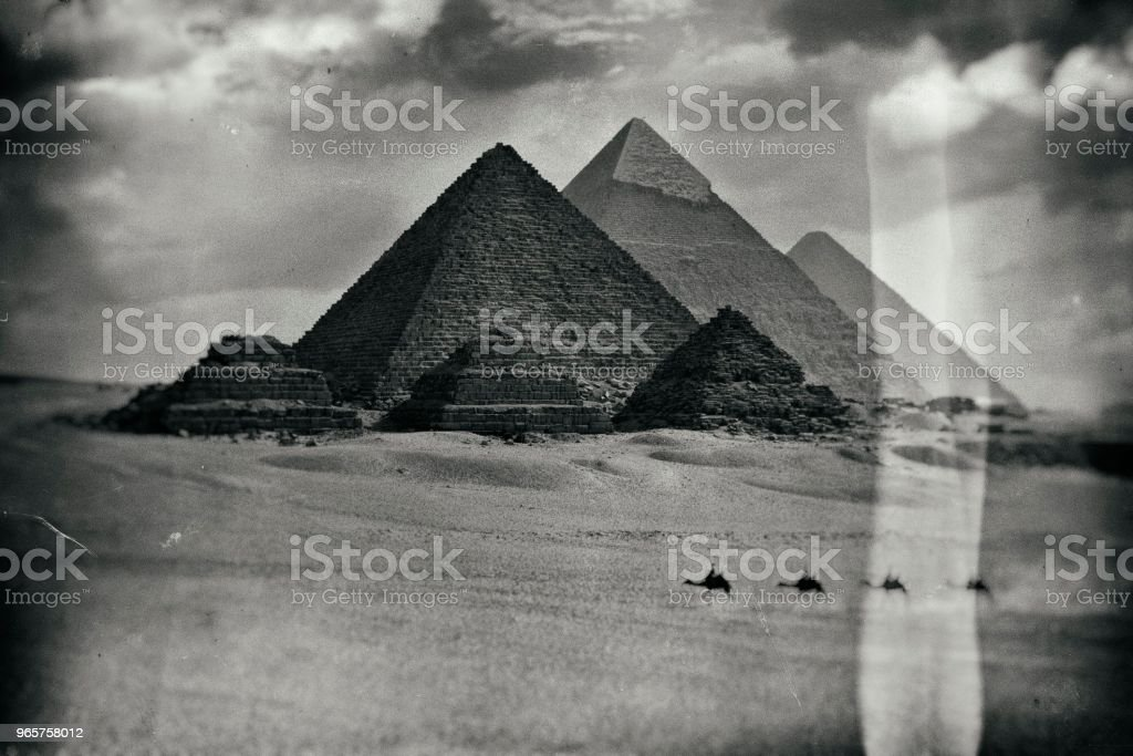Oude foto in Egypte - Royalty-free 1900 Stockfoto