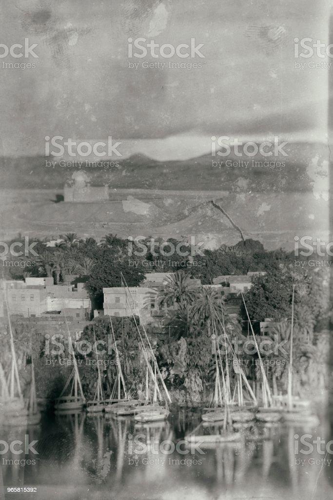 Oude foto in Egypte - Royalty-free 1900 Stockfoto