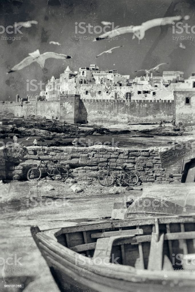 Old photo in Morocco royalty-free stock photo