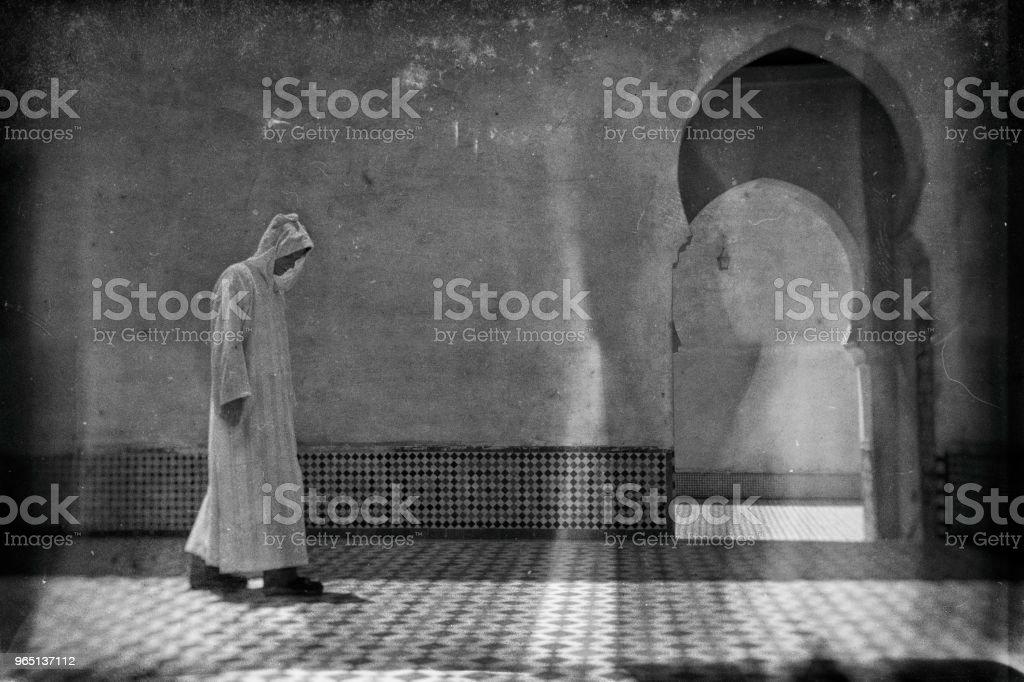 Old photo in Morocco zbiór zdjęć royalty-free
