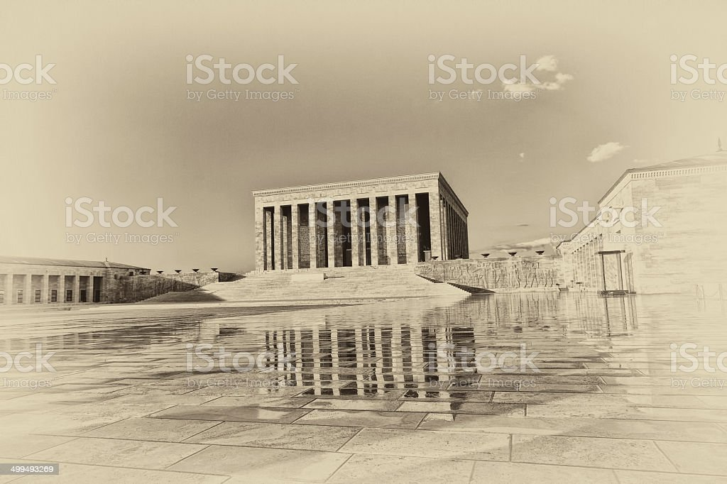 Old Photo of Anitkabir -  Ataturk Mausoleum stock photo