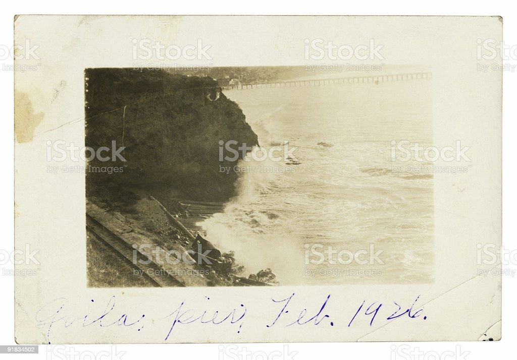 Old Photo of Avila Beach California royalty-free stock photo