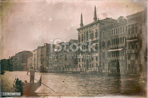 Fotto vecchia Canal Grande in Venezia italy