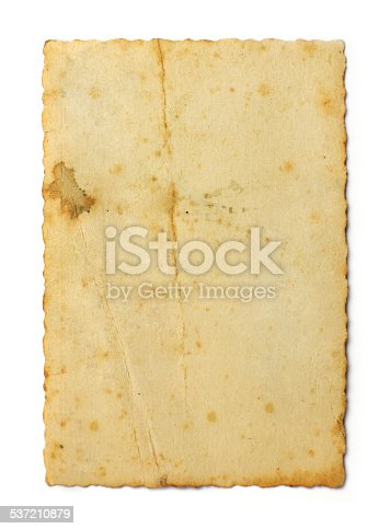 istock Old photo on white background 537210879