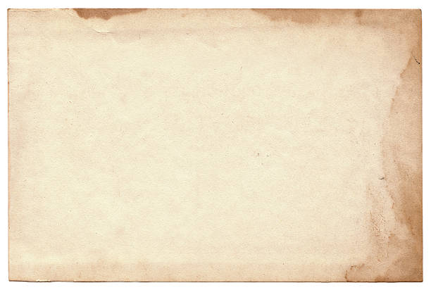 vieille photo sur fond blanc. vintage cartes postales vides texture - carte postale photos et images de collection
