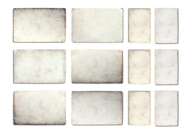 gammal foto papper textur isolerad på vit bakgrund. - dirty money bildbanksfoton och bilder