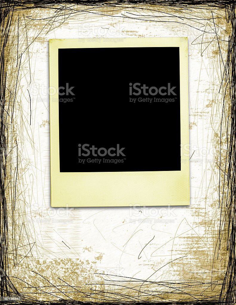 Old Photo with clipping path royalty-free stock photo