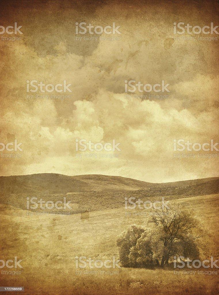 old photo zen landscape royalty-free stock photo