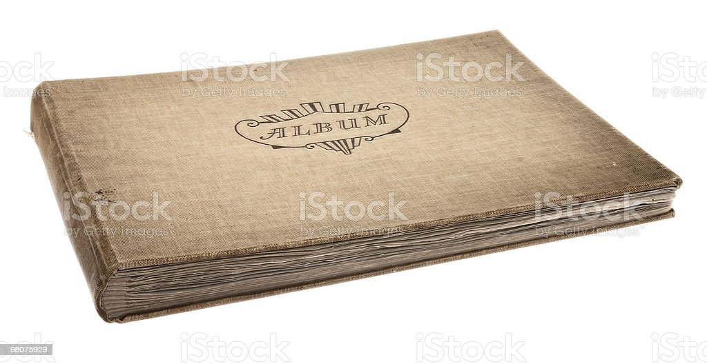 Old photograph album royalty-free stock photo