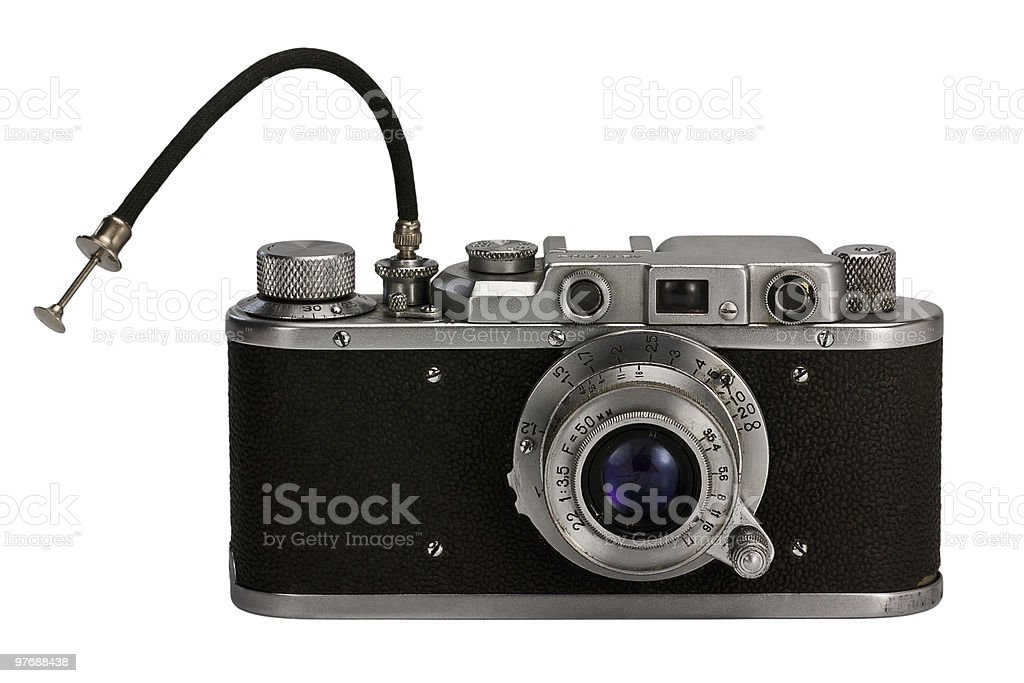 old photographic camera stock photo