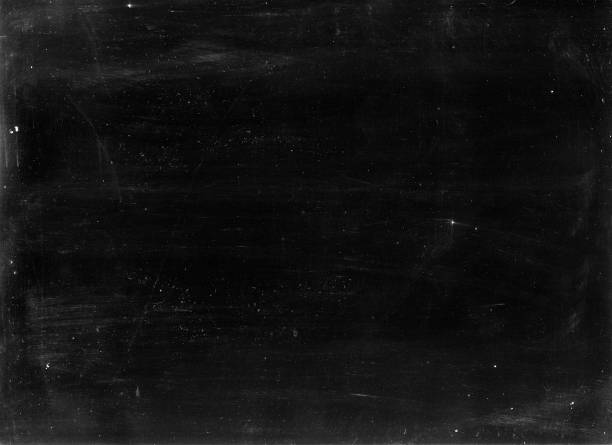 Old photographic paper useful as a layer in a photo editor - natural grains of dust and scratches stock photo