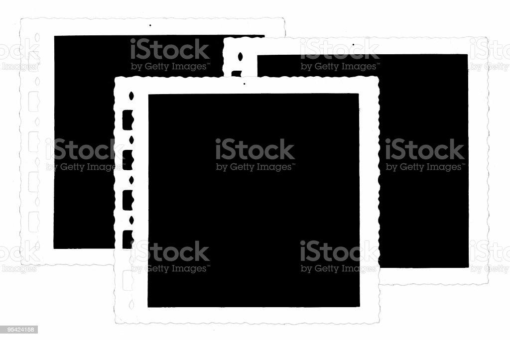 Old photographs on white background royalty-free stock photo