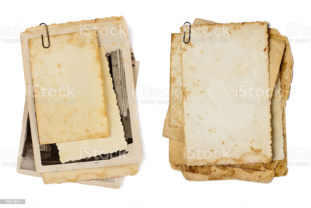 old photos bunch isolated as a background for your photo royalty-free stock photo