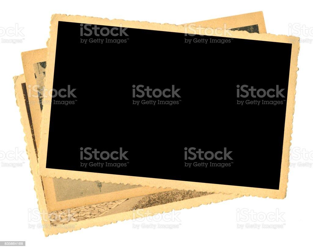 old photos, photo frames stock photo