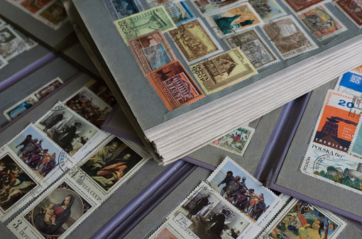 Vintage CCCP (Russia) stamps in XXL.