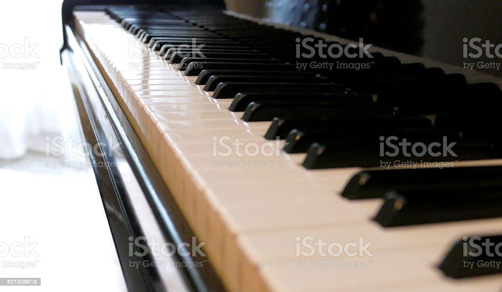 Vecchio pianoforte tastiera foto stock royalty-free