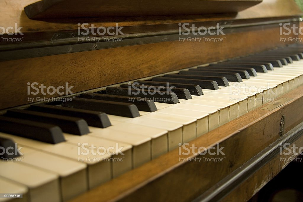 old piano royalty-free stock photo