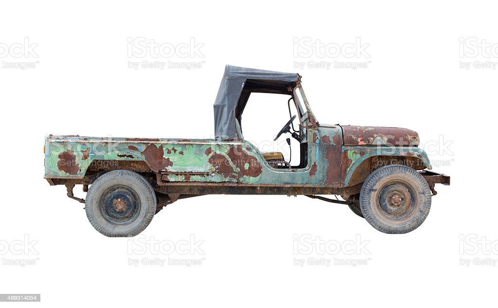 Old Pickup Truck Isolated On White Background Stock Photo & More ...