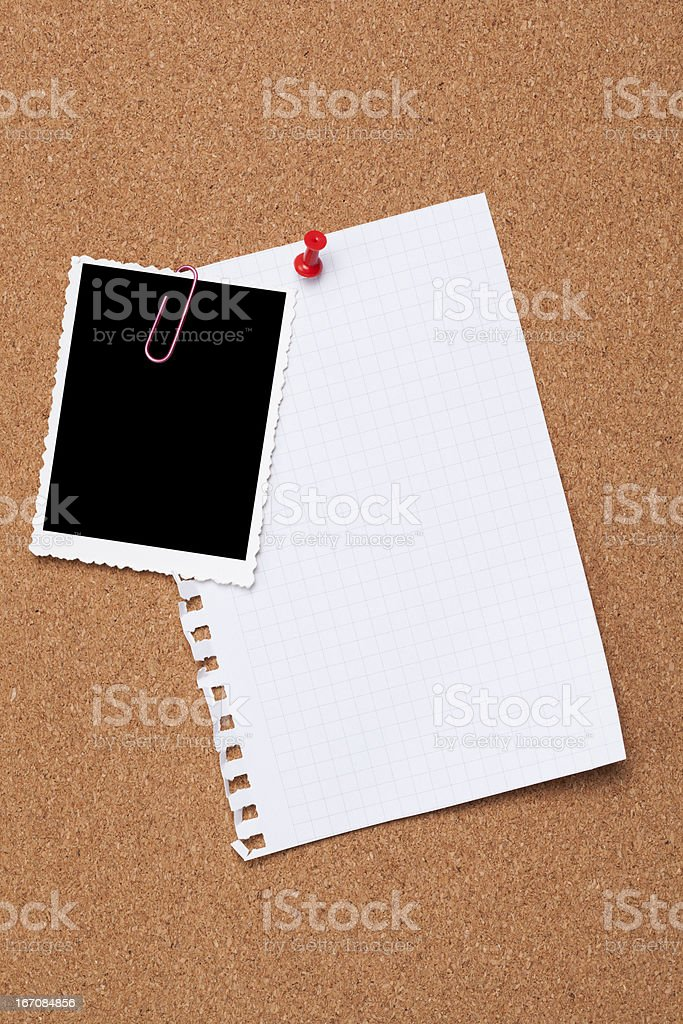 Old Picture frame and Note Pad royalty-free stock photo