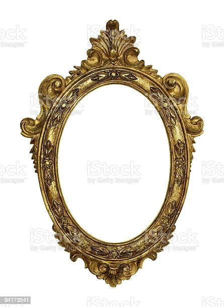 Old Picture Frame On White Background Stock Photo - Download Image Now