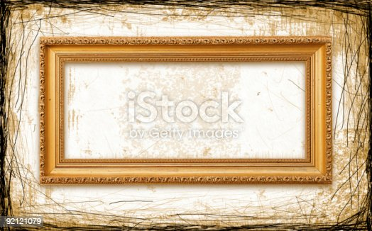 istock Old Picture Frame 92121079