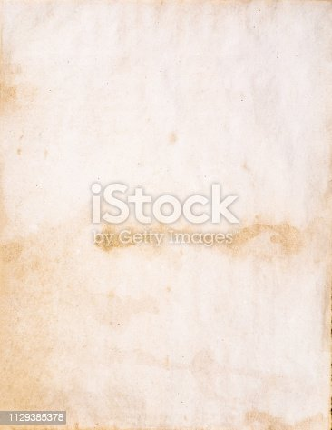 istock Old piece of paper 1129385378