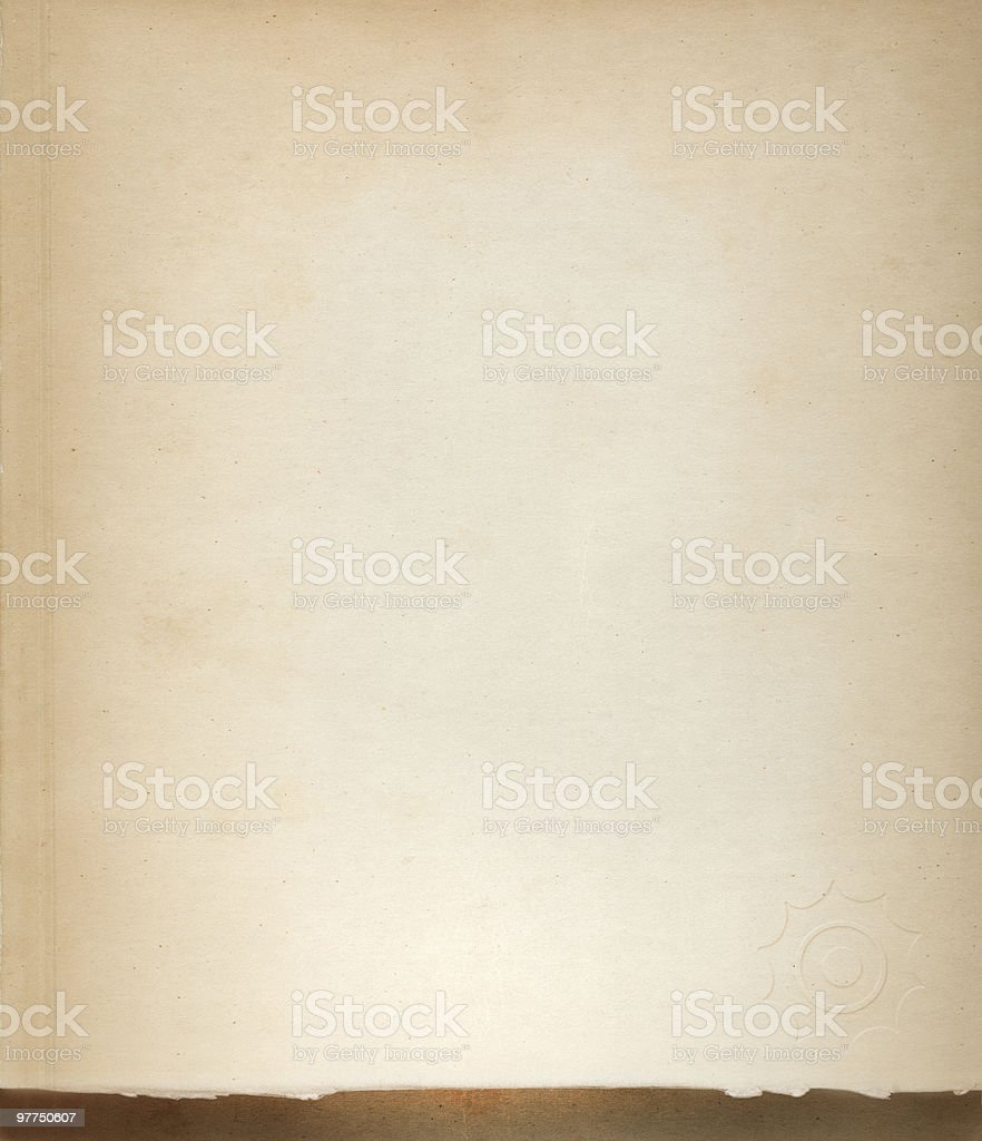 old piece of paper stock photo