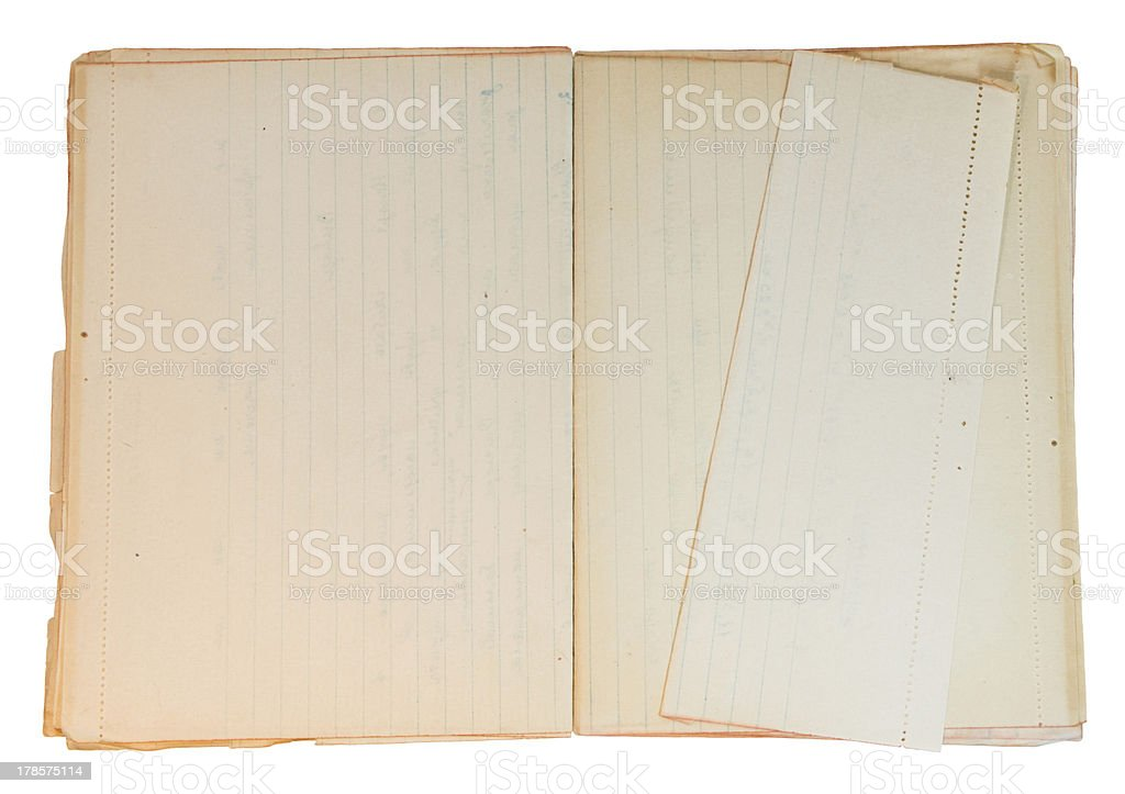 Old piece of paper with worn corners royalty-free stock photo