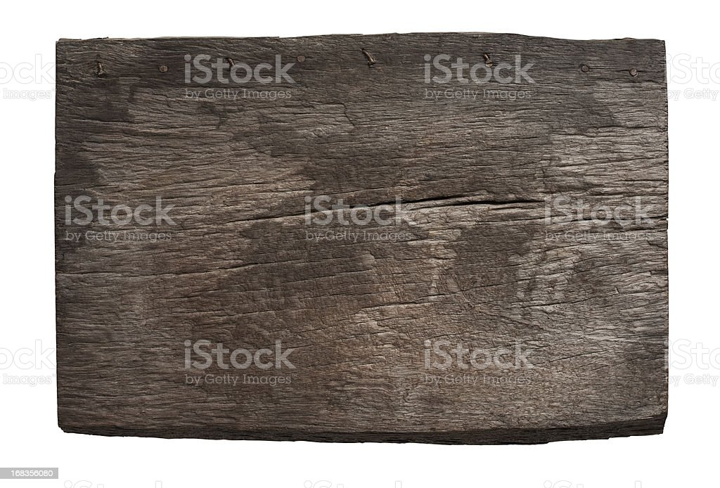 Old piece of weathered wood. stock photo