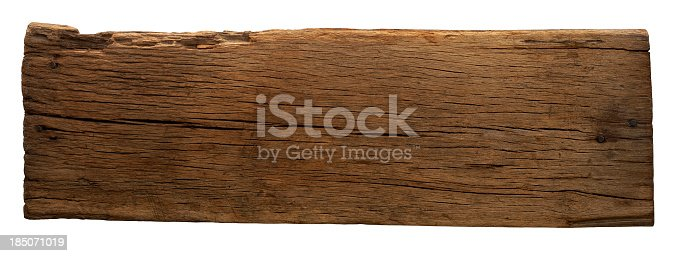istock Old piece of weathered wood 185071019