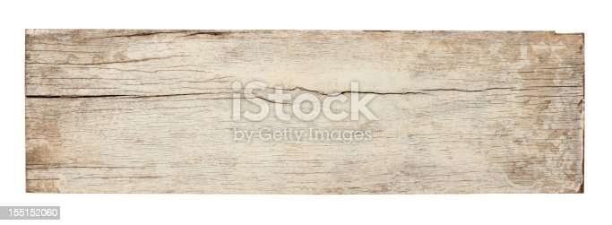 Old piece of white weathered wood board, high resolution, composite image, isolated on white,clipping path included.