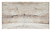 Old piece of white weathered wood board, composite image, isolated on white,clipping path included.