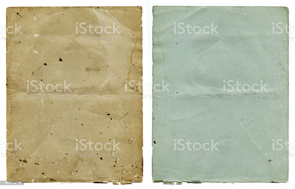 old pieces of paper royalty-free stock photo