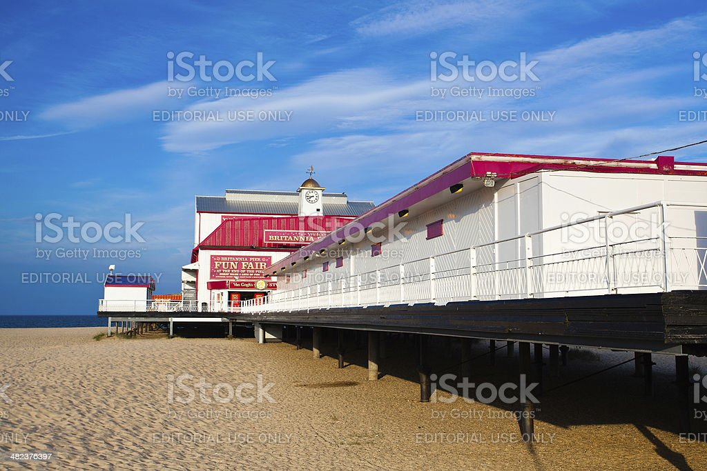 Old pier in Great Yarmouth stock photo