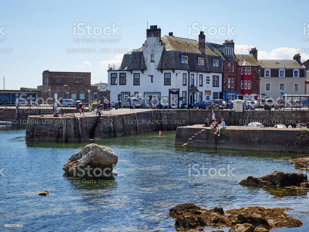 Old pier Millport Isle of Cumbrae Scotland stock photo