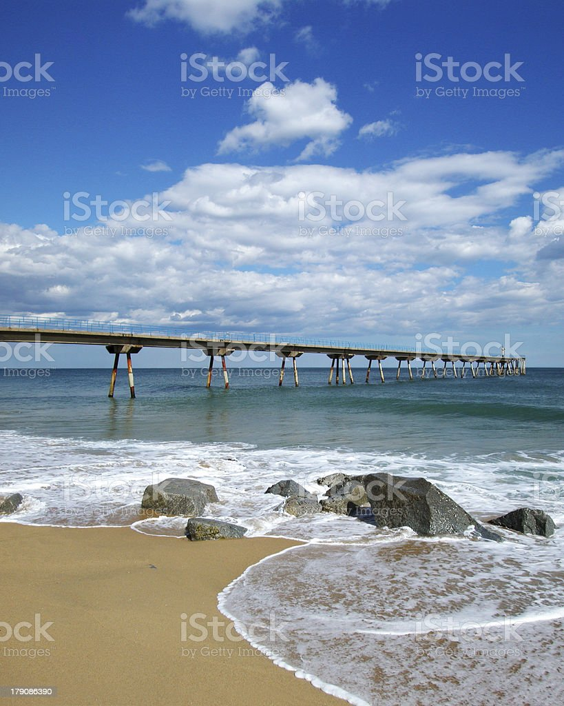 Old pier royalty-free stock photo