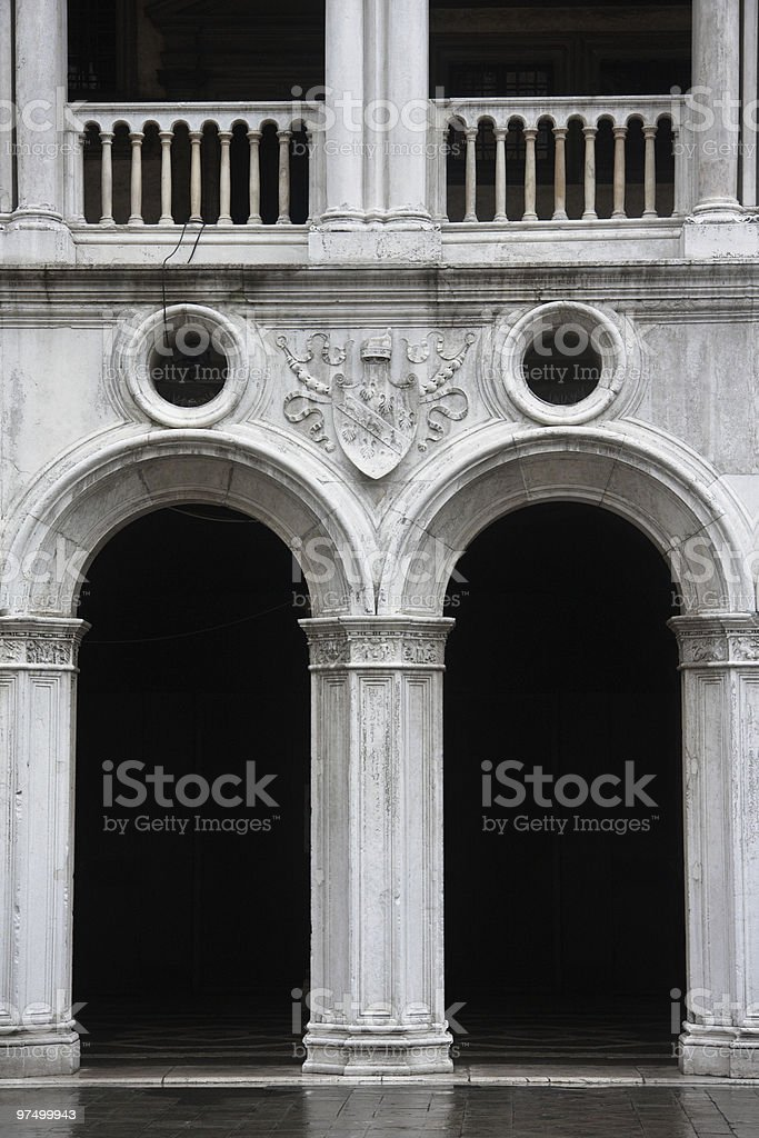 Old Pillars and Arches royalty-free stock photo
