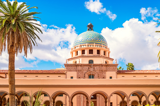 Old Pima County Courthouse In Downtown Tucson Arizona Stock Photo - Download Image Now