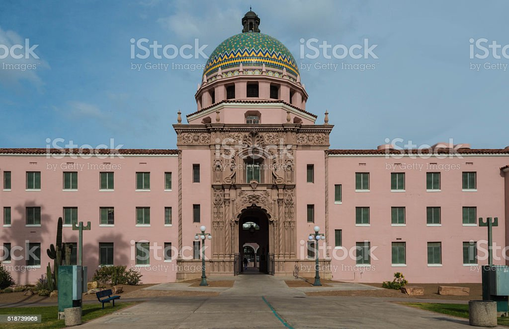 Old Pima County Courthouse stock photo