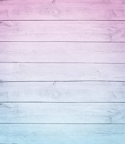 old pink blue wood ombre pane stock photo