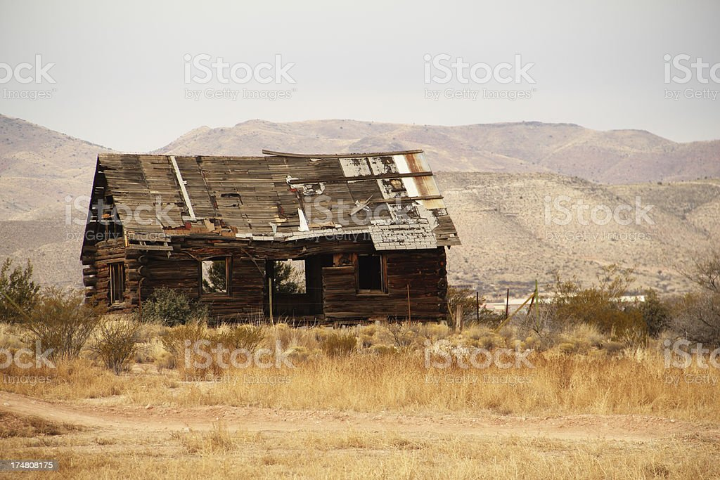 Old Pioneer Log Cabin stock photo
