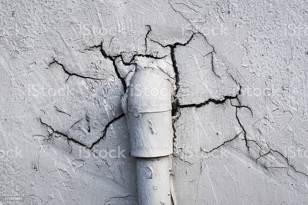 Old pipe on the wall royalty-free stock photo