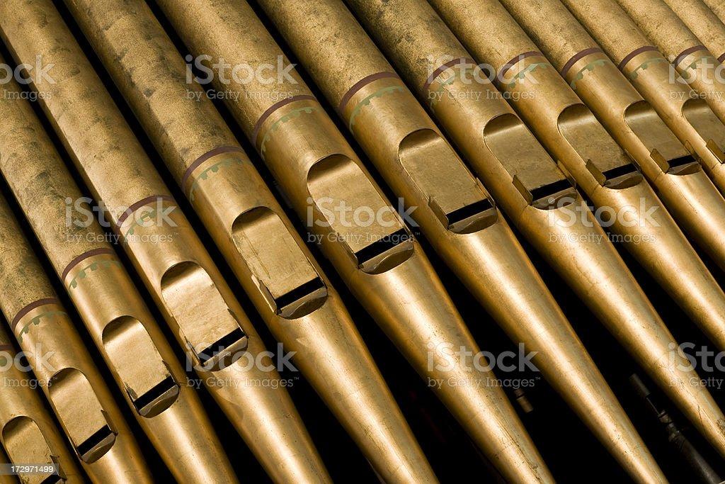Old Pipe Organ royalty-free stock photo