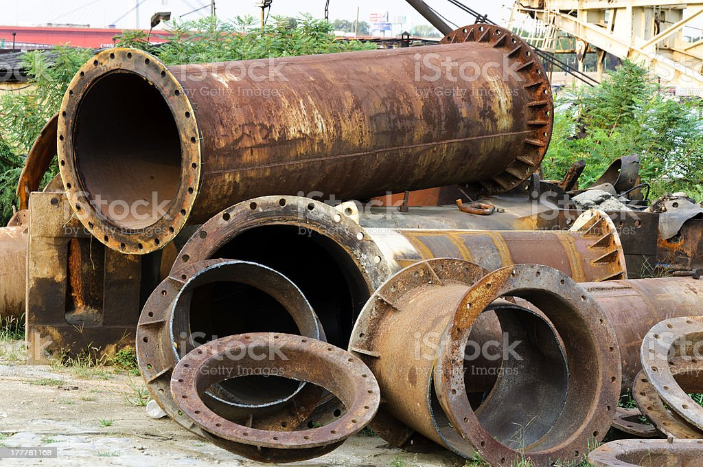 Old pipes stock photo