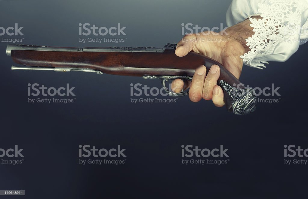 Old pirate pistol royalty-free stock photo